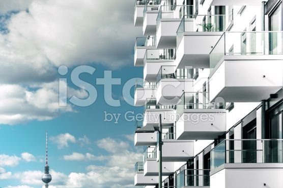 modern residential house in berlin royalty-free stock photo