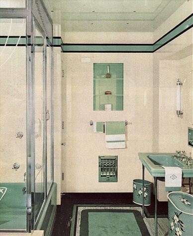 C 1940 bathroom guest bathroom still has some original for Bathroom ideas 1940