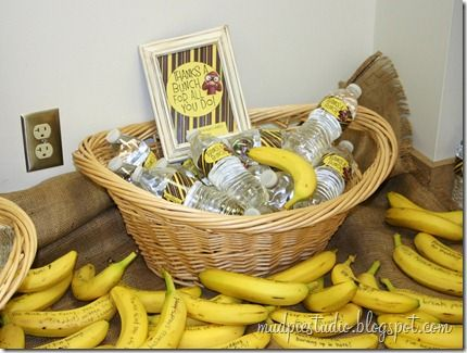 Funny Banana Breakfast for Teachers. Cute idea for Teacher appreciation week. (Student Council)
