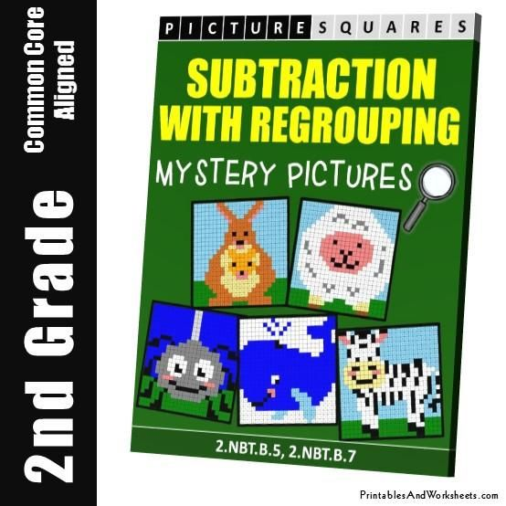 2nd Grade Subtraction With Regrouping Coloring Worksheets - Printables & Worksheets