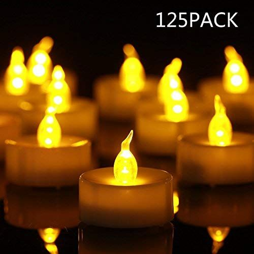 Flameless Tea Light Led Candles 125 Pack 0 295 Count Battery