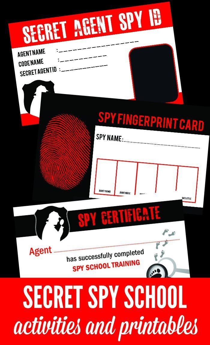 Spy School Activities for Kids! Everything you need to host a spy themed summer camp at home! Great ideas for birthday parties too!