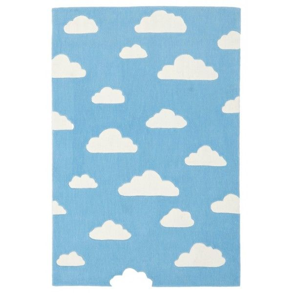 Dreamy Clouds Rug Blue (€120) ❤ liked on Polyvore featuring home, children's room, children's decor, backgrounds, clouds, borders, childrens rugs, filler and picture frame