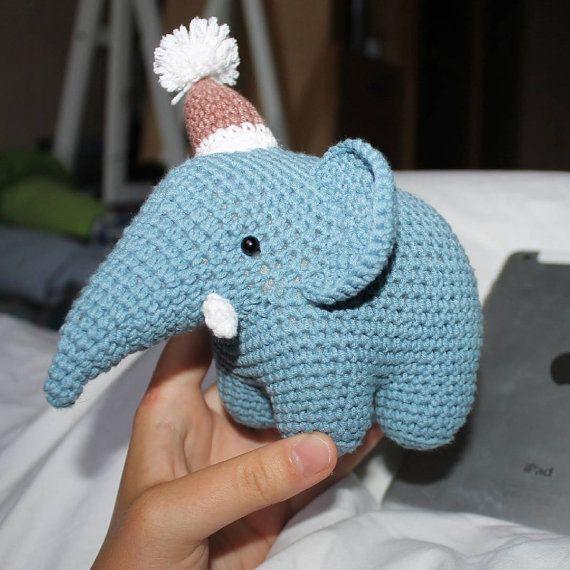 Elephant stuffed toy doll  knitted elephant crochet от PrettyBalls