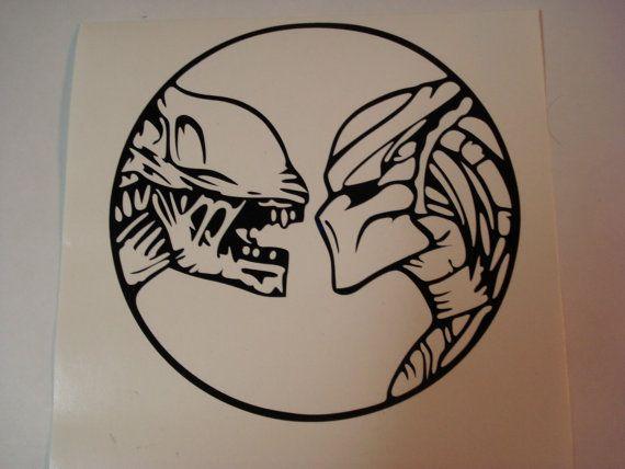 This Is For One Custom Made Alien Vs Predator Vinyl Decal