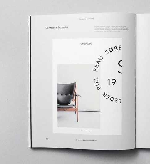 A page from our Brand Book with the campaign format, outlining the off kilter approach to the graphic elements, which together create a cohesive entity. Chieftains Chair by Finn Juhl / One Collection. Sorensen Leather: Elegance / Black. Creative Director & Photographer: Jonas Bjerre-Poulsen / #NORMarchitects, Art Direction & Graphics: Emil Andersen / #StudioC. Senior Writer: Julie Ralphs. #finnjuhl #onecollection_finnjuhl