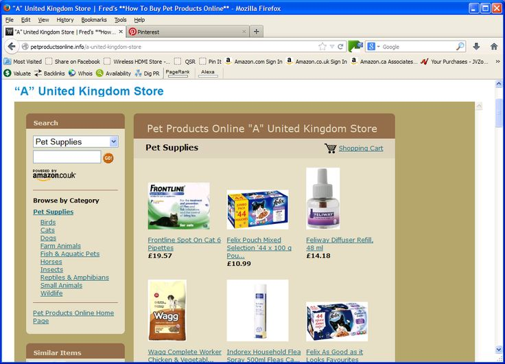 People living in the United Kingdom will enjoy shopping at an Amazon Online Web Store with Pet Products Online available at Amazon in the United Kingdom: http://petproductsonline.info/a-united-kingdom-store
