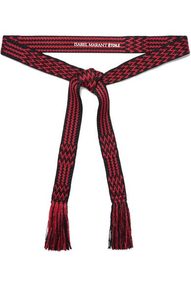 Red and black polyester, cotton and linen-blend Tie fastening 52% polyester, 32% cotton, 16% linen Spot clean
