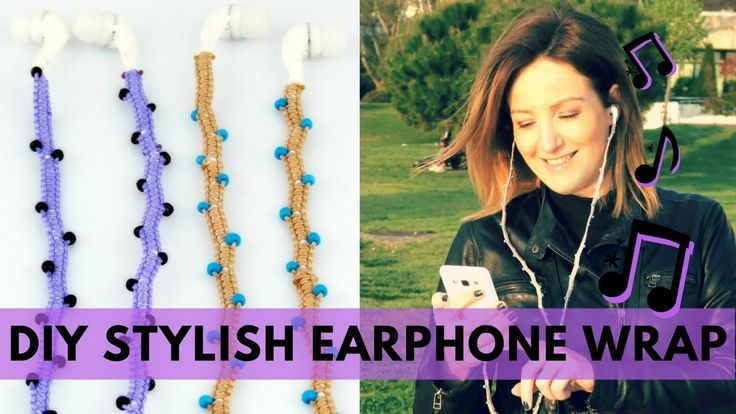 🎶 DIY Stylish Earphones wrap| How to make Headphones Decoration| Φτιάξτε...