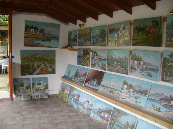 art gallery -Vatousa Lesvos.