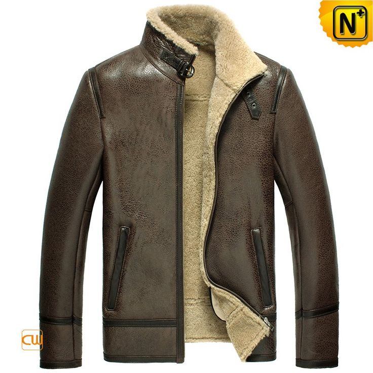 www.cwmalls.com PayPal Available (Price: $1315.89) Email:sales@cwmalls.com; Brown Leather Sheepskin Jacket Mens CW856077 Quality brown leather sheepskin jacket for men with genuine sheepskin lining and rugged sheep leather exterior, best shearling sheepskin lined leather jacket for you in winter!