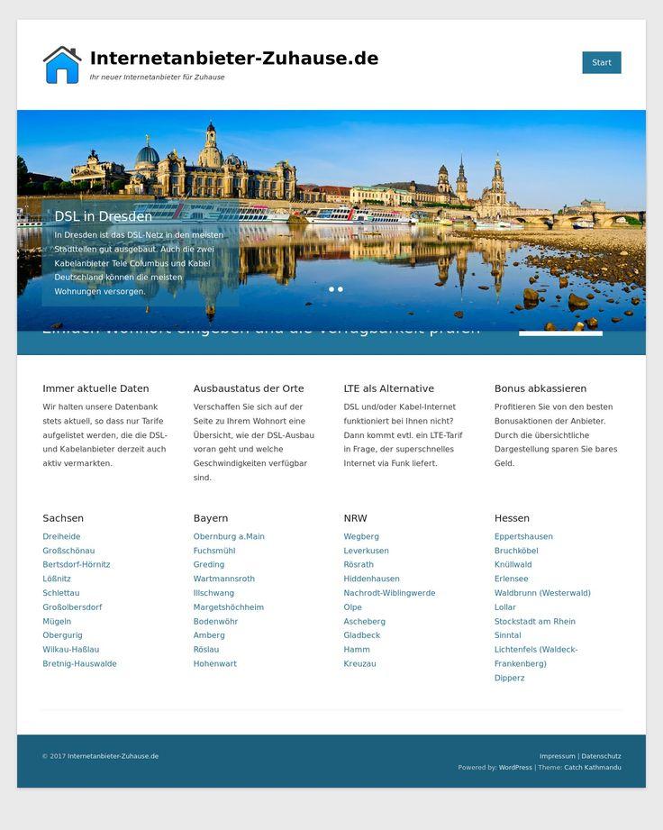 WordPress site internetanbieter-zuhause.de uses the Catch Kathmandu best wordpress theme