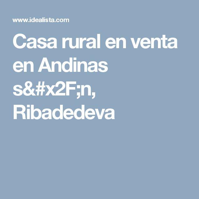 Casa rural en venta en Andinas s/n, Ribadedeva