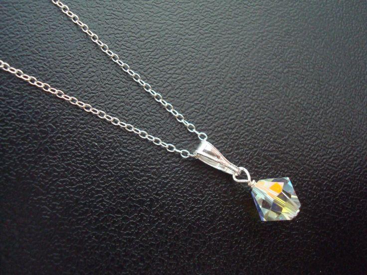 Bardot crystal pendant using Swarovski AB crystal from Lou Lou Belle Designshttp://www.louloubelle.co.uk/pendants_bridal.html#