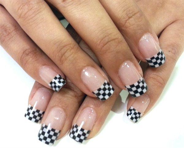 Day 241: Checkered Nail Art - - NAILS Magazine