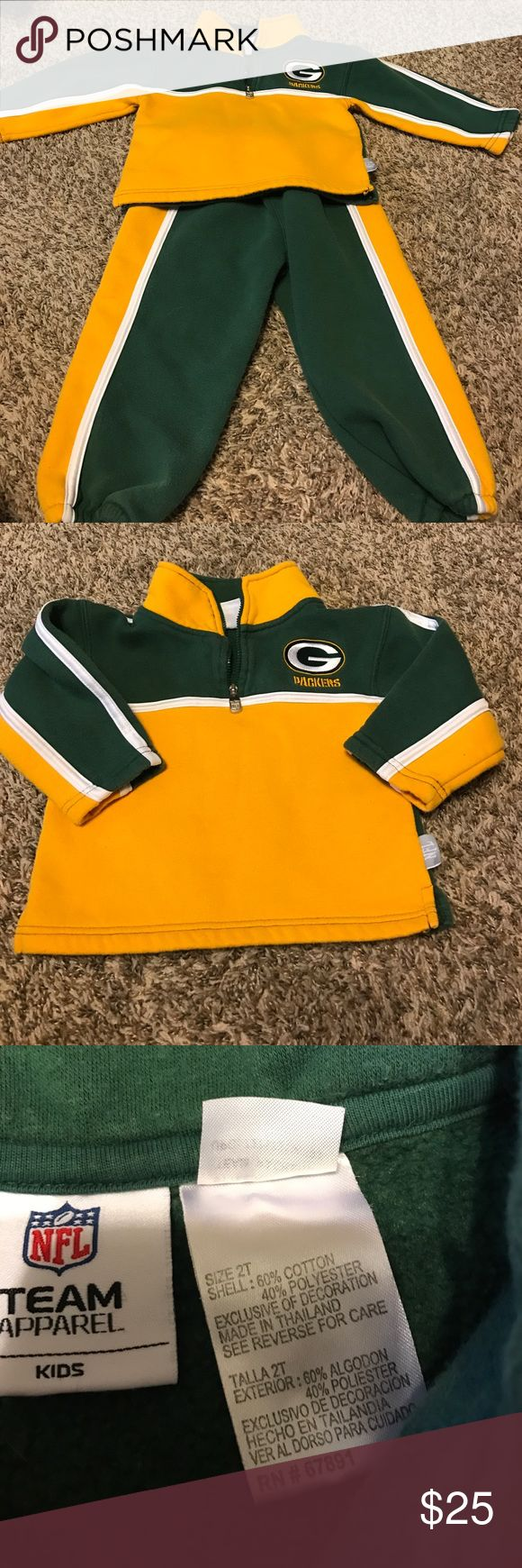 Packers Kids Sweatsuit Packers Kids Sweatsuit, Size 2T, slight peeling, BUNDLE AND SAVE $$$ Make an Offer!!! NFL Matching Sets