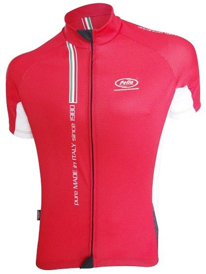 Maglia Ciclismo Manica Corta Mortirolo Pure Made in Italy Rossa - Store For Cycling