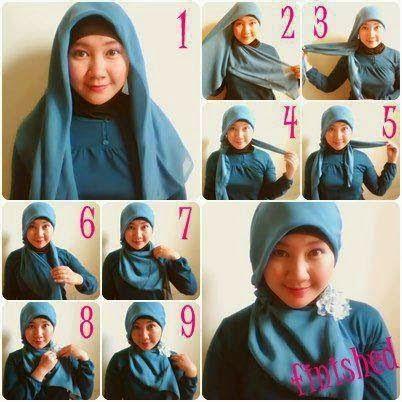 Model Jilbab Paris Untuk Wajah Bentuk Bulat