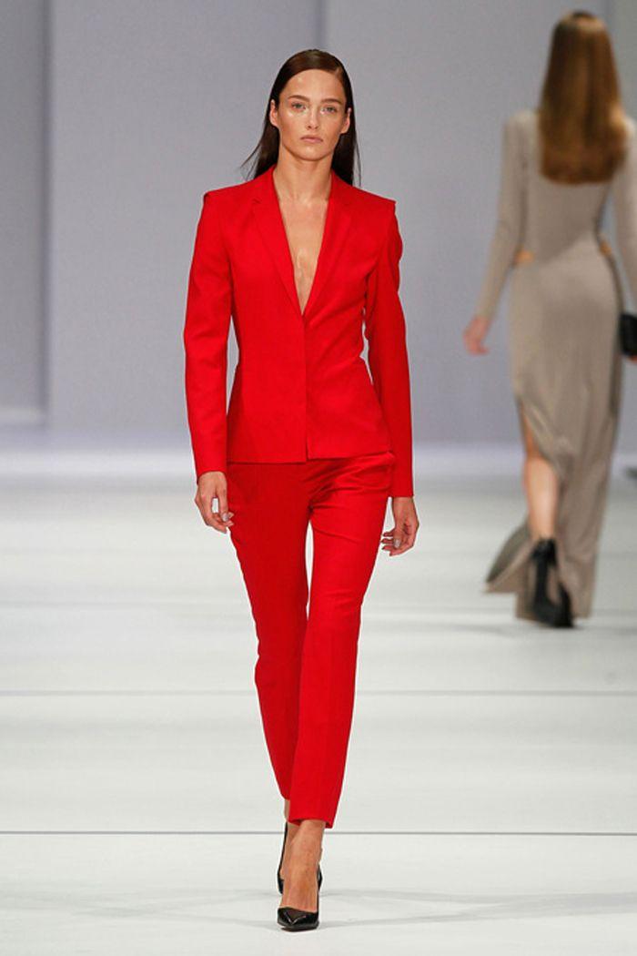 Red Pant Suit Fashion For Women Fashion Suit Fashion