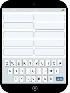 """PRINTABLE - iPad Spelling - write spelling words on top and """"text"""" them at the bottom"""