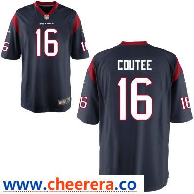Men s Houston Texans  16 Keke Coutee Navy Blue Team Color Stitched NFL Nike  Game Jersey 3f449e601
