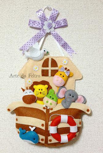 Arca de Noé by Fadas do Feltro, via Flickr