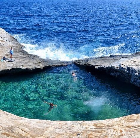 Giola, the natural swimming pool. Thasos Island, Greece !
