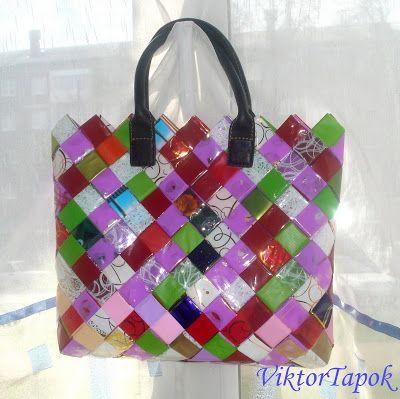 Viktor Tapok: Как сделать сумку из цветочных оберток