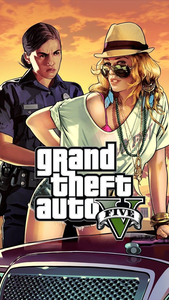 Awesome GTA 5 Woman Cop Frisk Me iOS 11 iPhone X Wallpaper