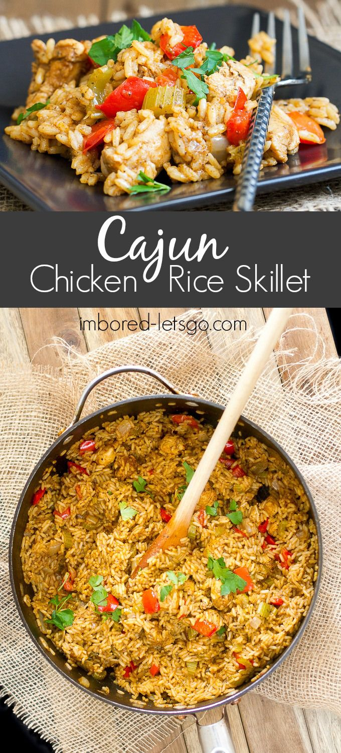 A deliciously spicy Cajun Chicken and Rice one pot dish!