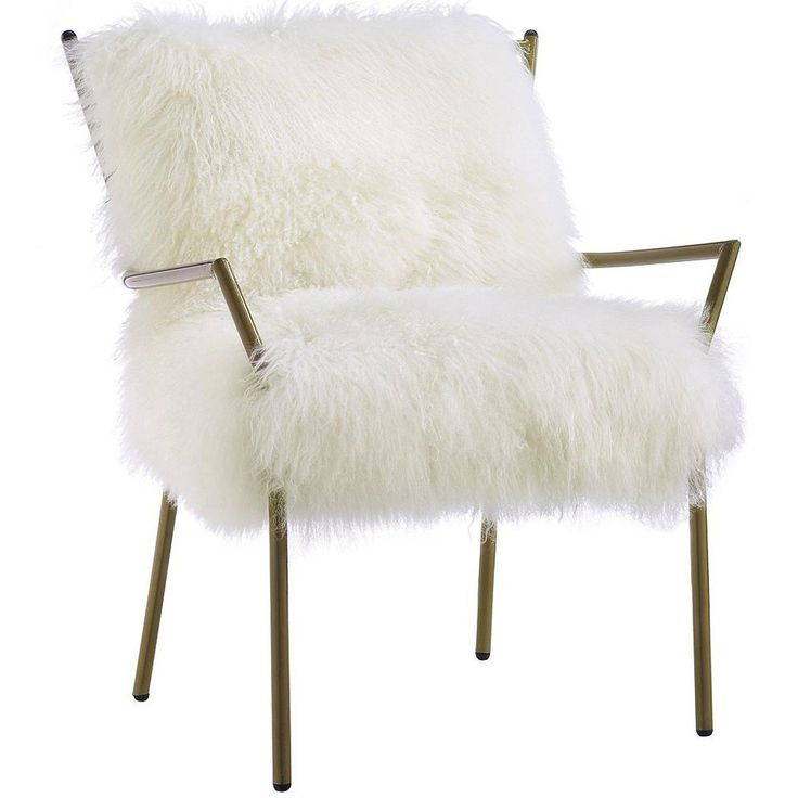 Lena Sheepskin Chair, White   Leather   Chairs   Furniture