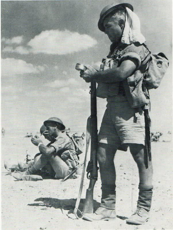 South African soldiers in Egypt, 1940