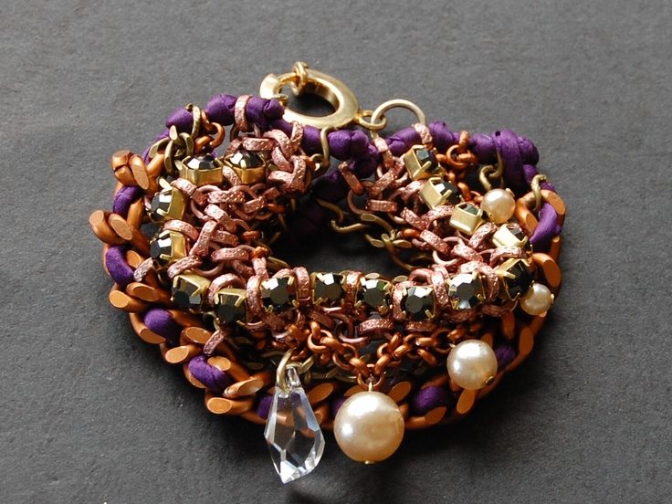 multi brass chain bracelet by Hermina wristwear and more