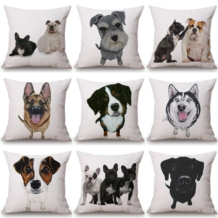 Милые подушки с собаками  http://ali.pub/1beka1