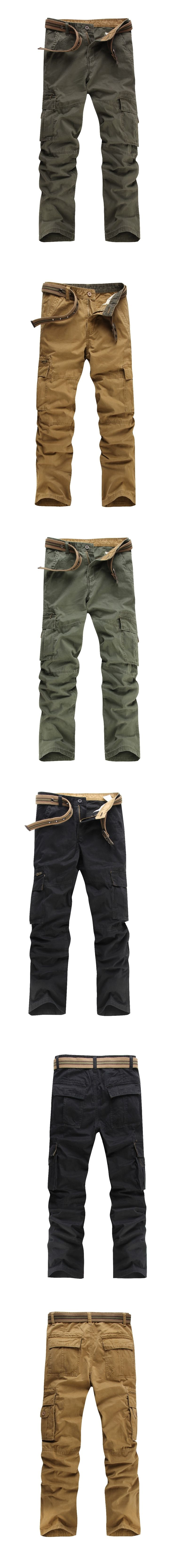 2017 New Tactical Cargo Pants Men Combat Army Military Pants Cotton Stretch Flexible Man Casual Trousers with Pockets
