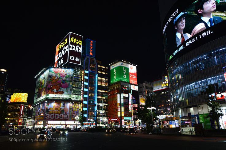 Tokyo (Shinjuku - Kabukicho Entrance) by MarkBowditch. @go4fotos