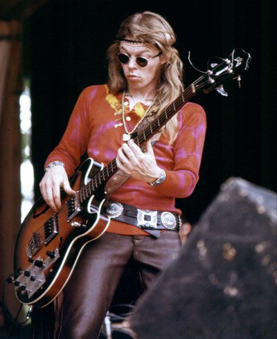 Jack Casady - Hot Tuna - playing his second Guild Starfire at Michigan State University in May 1970. Photo Jim Mead