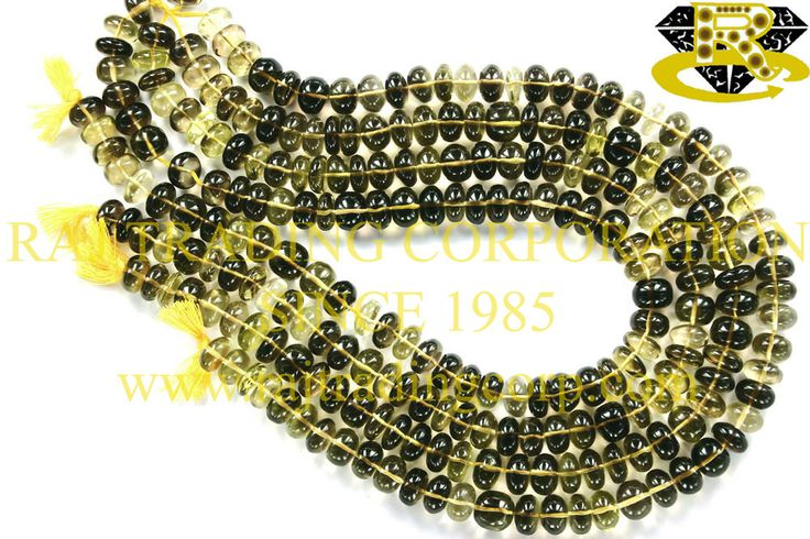 Bio Lemon Smooth Roundel (Quality AAA) Shape: Roundel Faceted Length: 36 cm Weight Approx: 55 to 57 Grms. Size Approx: 10 to 10.5 mm Price $67.20 Each Strand