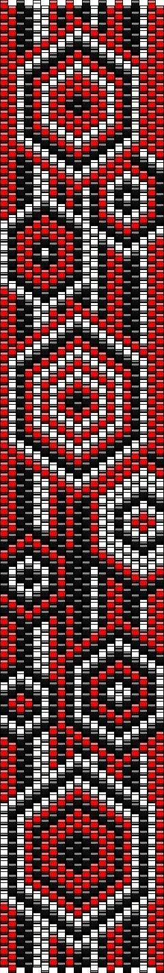 ESQUEMA MANCHETE DE REGINA ÉKSZER #beading #beadwork #pattern #mosaic #peyote