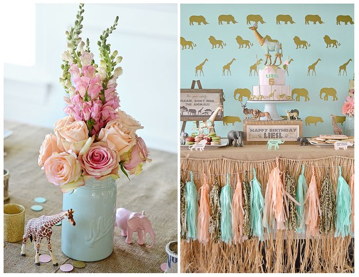 Wild Safari Expedition-themed Birthday Party - love the feminine take on this wild party!