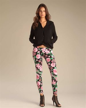 6126 by Lindsay Lohan Floral Leggings    Modnique.com    #Prints #Patterns #SpringTrend