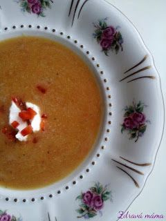 Zdravá máma: Čočkový krém s červenou paprikou