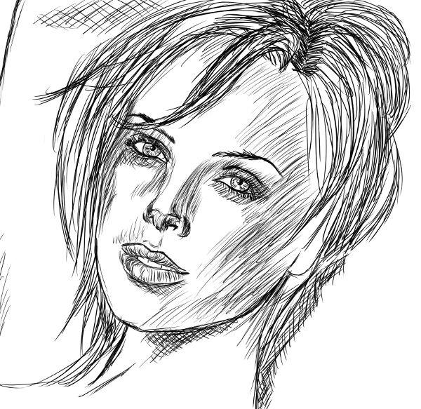 Tentativa de retratar a Charlize Theron.