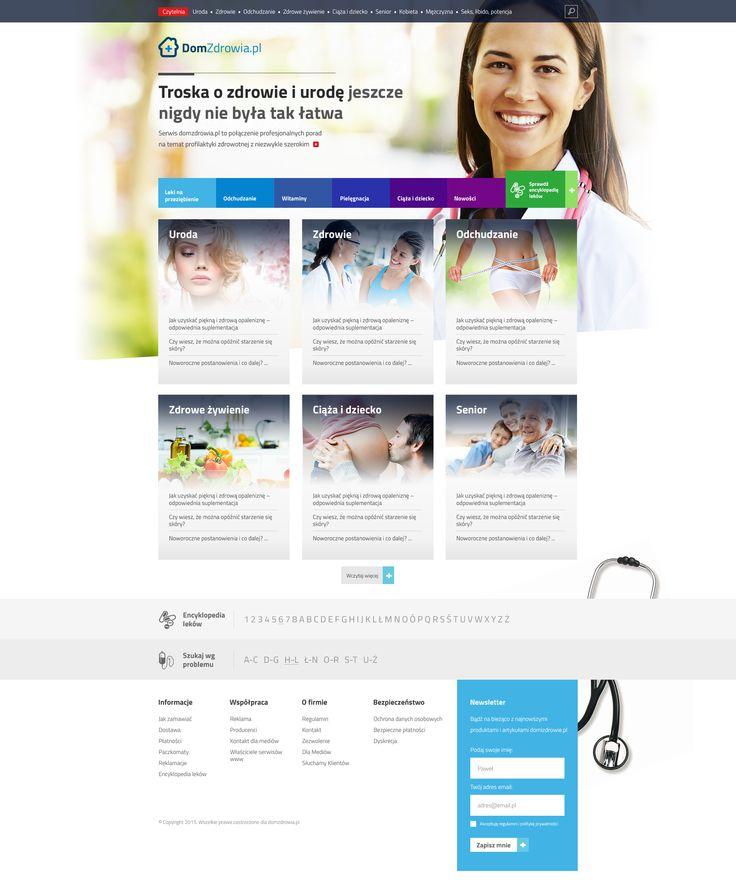DomZdrowia Webdesign #webdesign #web #design #piotr #wolniewicz #portfolio #inspiration