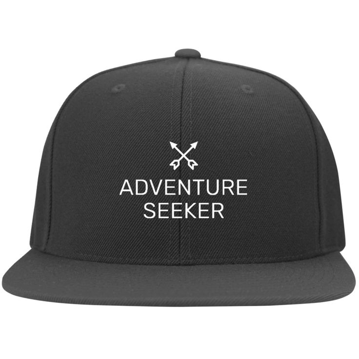 Adventure Seeker Flat Bill Cap from Munkberry. Inspired by a love of travel and adventure. These trendy hats are great for everyday, traveling, hiking, camping, outdoors, and more. Great gift idea for women. Baseball caps, hats.