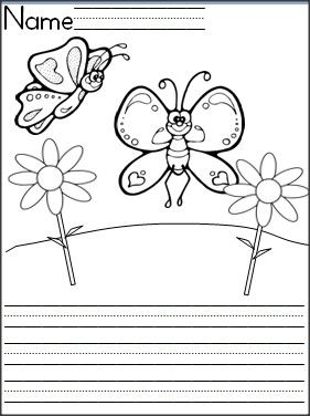 Students can practice writing with this free butterfly writing template.