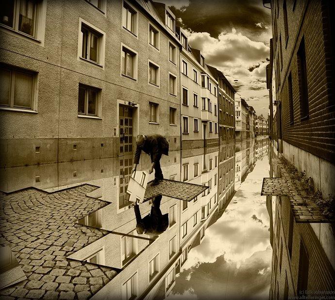 """Anlagd översvämning"" (Landscaped Flood) by Erik Johansson"