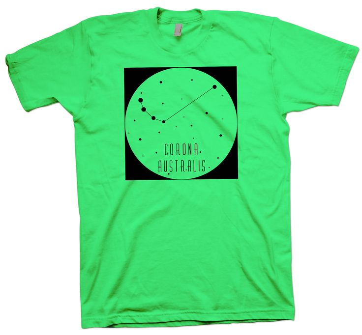 Corona Australis Constellation T-Shirt, Nerd Science Geek Tee Astronomy - T-Shirts