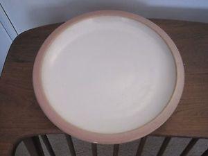 Heath Ceramics Rim Line - 1 (ONE) Dinner Plate - Opaque White Rose Pink Rim  | eBay