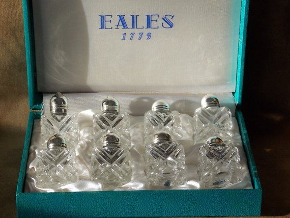 Eales 1779 Individual Salt Pepper Shakers In Original Case